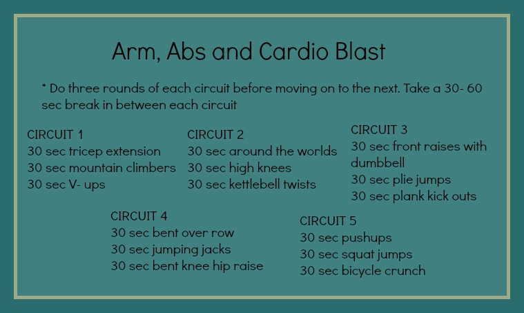 My health mistakes and a killer cardio, arms and abs ...