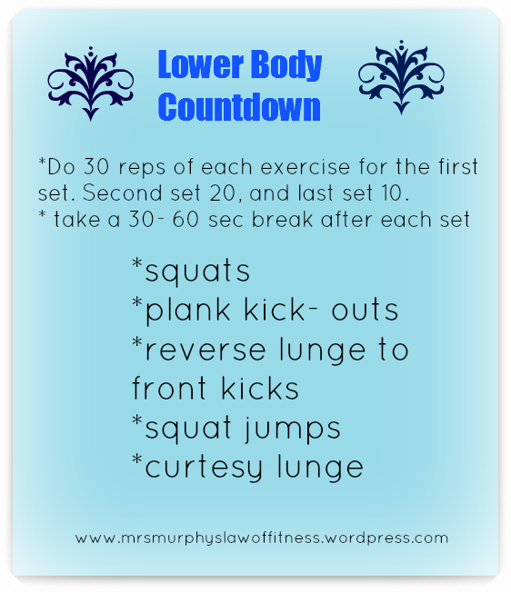 lower body countdown