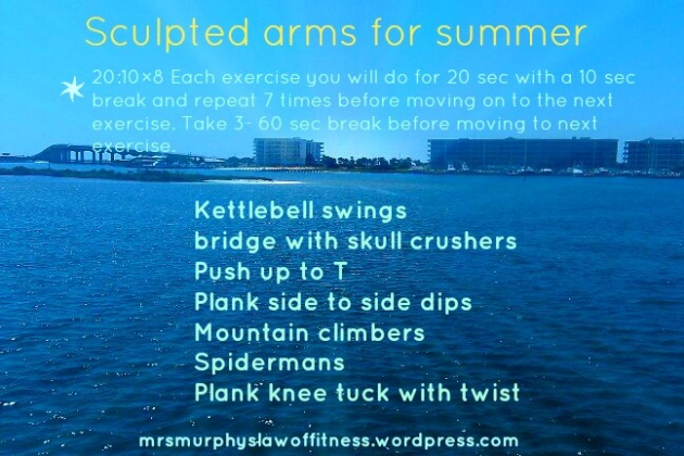 sculpted arms for summer