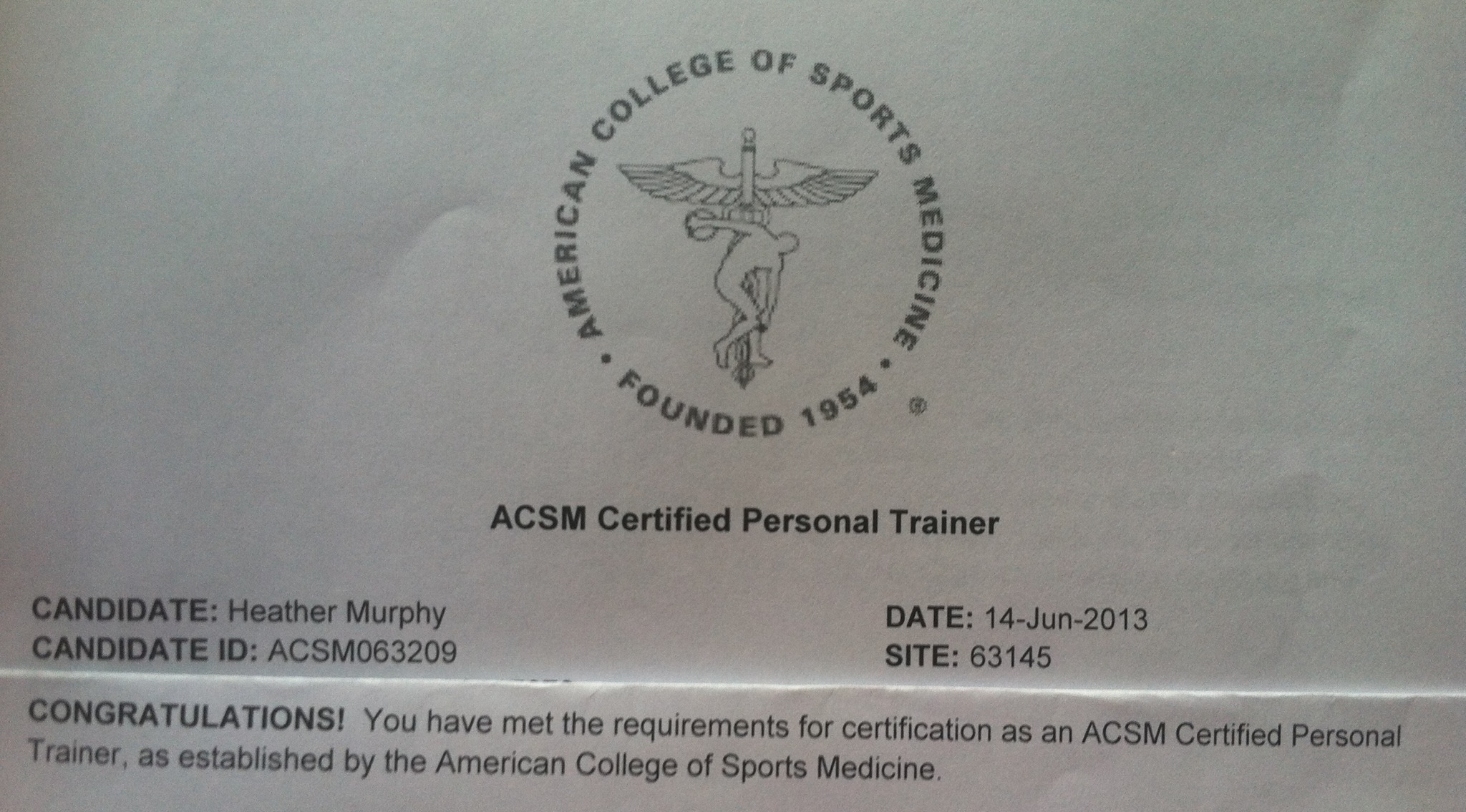 How i passed my acsm certified personal training certification acsm cpt 1betcityfo Gallery