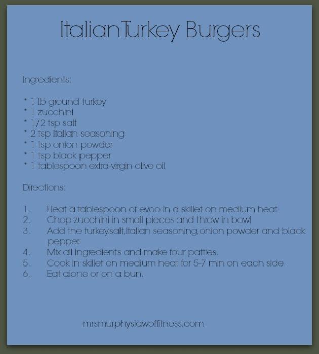 italian turkey burgs