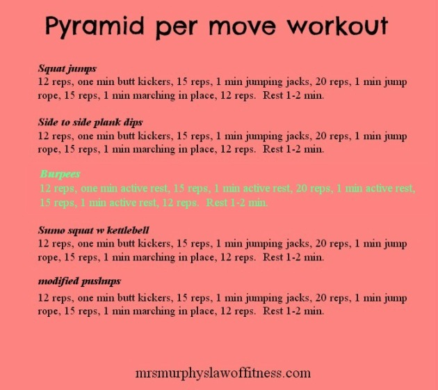 pyramid per move workout