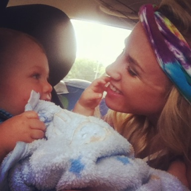 j and mommy