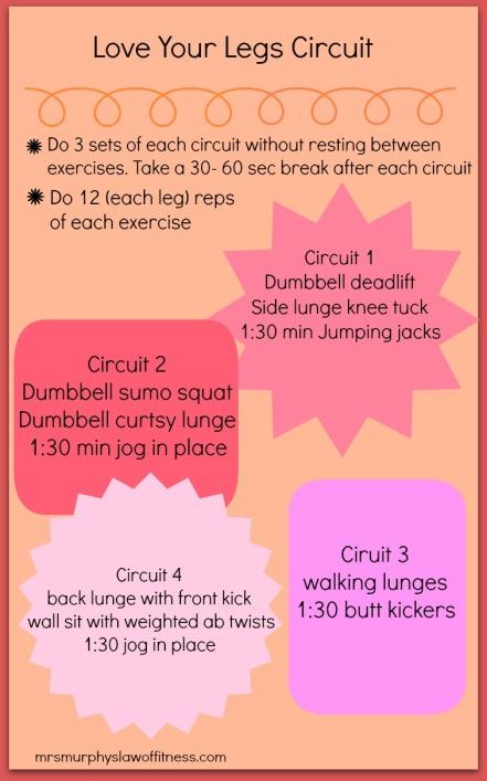Love your legs circuit