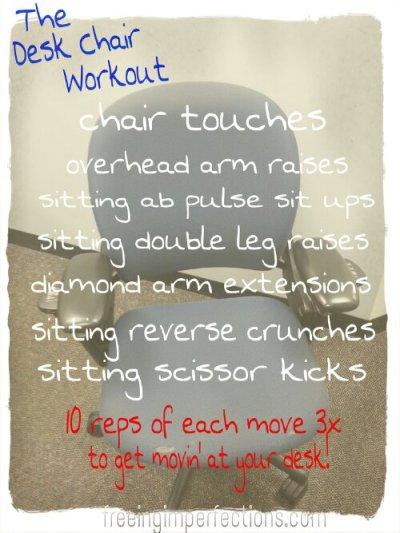 desk chair workout