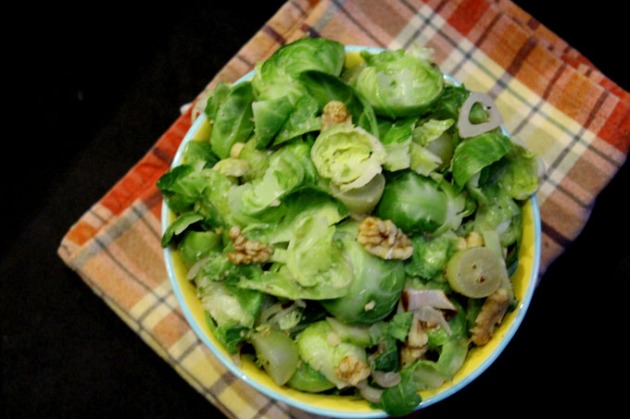 warm brussels sprouts salad 2