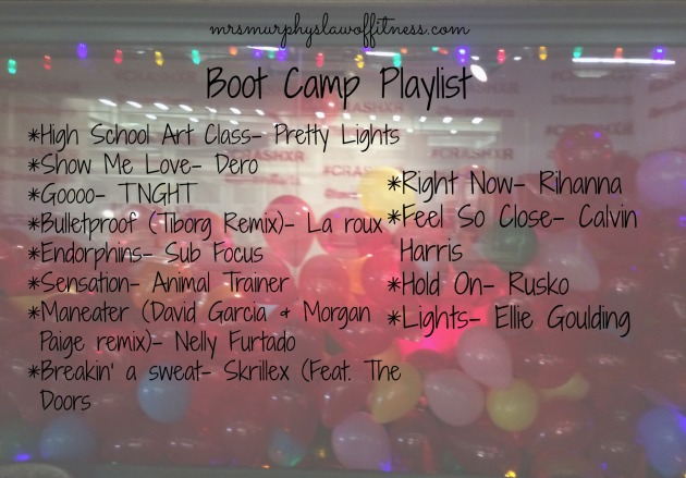 boot camp playlist