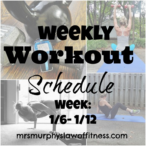 workout schedule 16- 112