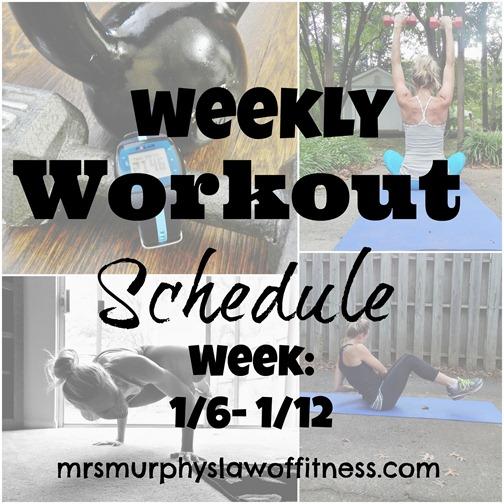 workout schedule 16- 112